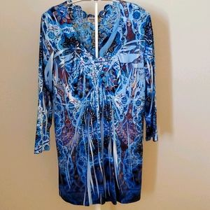 2 for $25 Beautiful Blue Blouse